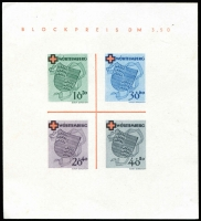 Lot 1328:1949 Red Coss: imperf MS, Mi #Block 1, MNG as issued, Cat  €150.