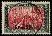 Lot 1421:1900-03 6p25c on 5M lake & black type I, Hand painted borders, SG 19b, fine used, Cat £475.