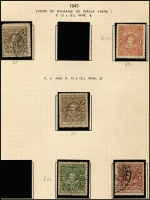 Lot 1391 [4 of 5]:Collection on Illustrated Pages in special album. Earlies are quite sparse, later issues are more comprehesive, mainly used. Noted 1913 3a, 1933 6a8p & 10a, 1942-44 6p on 1a (3 types), 1943 1a x2 (#85c & 90) MNG, 1946 4p, 1950 3a4p mint, 1943 Officials 9p on 1a, 1a30 on 1a, 3p on 4p. Generally in good condition with some minor aging issues. Total Cat £1,800+. (100s)