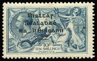 Lot 1502 [1 of 3]:1922 Dollard Overprints 2/6d to 10/-, SG #17-21, 2/6d damaged corner, Cat £300. Ex UPU distribution. (3)