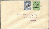 Lot 1290:1918 (Feb 1) cover to Sydney franked with KGV ½d type 'a' and Kangaroo 2½d type 'c' tied by strikes of 'KIETA' datestamp in violet.