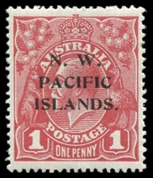 Lot 1086 [1 of 3]:1918-23 KGV Single Wmk 1d red, mint catalogued varieties selection, Saddle on emu, Line under RVT & Die II. (3)