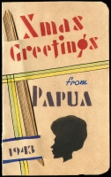 Lot 1092 [1 of 4]:1934-43 [1] attractive locally made Xmas card from Capt black of NGF to Rockhampton & District Patriotic Fund thanking them for their parcels; [2] 1934 (Jul 16) Sydney - New Guinea flight cover; [3] 1950 (Jan 24) cover from with 2½d KGVI to USA, unperpaid and taxed 2c; [4] 1937 (May 12) attractive Coronation day cover from Burma to England with 2a6p KGV optd 'BURMA'. (4)