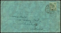 Lot 1454:1931 (Nov 28) cover to Scotland franked ½d KGV tied by 'MLANJE' cds. Scarce printed matter rate with unsealed flap.