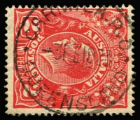 Lot 1041:Carmila (2): 'CARMILA.R.O./3FE1923/QUEENSLAND' on 2d red KGV. [Rated 4R]  RO c.1921; PO c.-/3/1924.