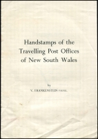 Lot 1167 [2 of 3]:Australian States: trio of elusive publications: Handstamps of the Travelling Post Offices of New South Wales by Frankenstein; Queensland Railway Parcel Stamps by Elsmore (1988 revised edition); Revenue and Railway Stamps of Tasmania by Craig & Ingles (1978), generally good condition. (3)
