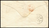 Lot 1465 [2 of 2]:1883 (Sep 17) cover to Italy franked with ½d, 1d & 6d QV tied by GPO Natal cds, backstamps of London & Modena. Attractive three colour franking.