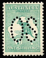 Lot 4:½d to 1/- perf large 'OS', incl 1d Die I, 2½d 