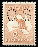 Lot 5:½d to 1/- perf small 'OS', incl 1d Die I & 3d 