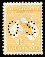 Lot 6:1d & 4d perf 'OS', Large 'OS' 1d Die II, Small 