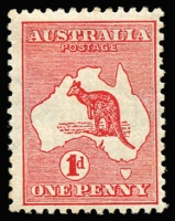 Lot 28:1d Red Die I Wmk sideways - crown pointing to left when viewed from the back, BW #2aa, couple of toned perf tips, mint, Cat $2,250.