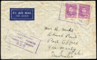 Lot 761 [4 of 4]:Range of Covers many with service logos etc, eg Red Cross (both Australian & American) & Salvation Army, many different types, several from Middle East, noted NSW relief MO from 17DE46. Good lot in generally fine condition. (70)
