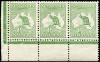 Lot 6:½d Green Plate 1 No Monogram - Watermark Inverted 