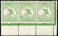 Lot 8:½d Green Plate 1 No Monogram - Watermark Inverted 