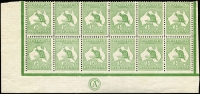 Lot 10:½d Green Plate 2 Imperforate at base CA Monogram 