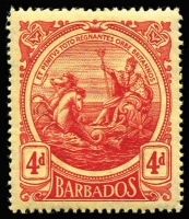 Lot 2:Barbados 1892-1947 small collection on Hagners, 