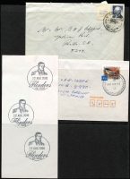 Lot 1372 [3 of 3]:A-Y Datestamps: range of mainly modern cancels on covers, many addressed to the original owner, mild duplication, bound to be a few short-lived cancels here. Also includes a few PO photos. (200+)