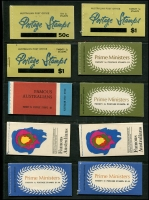 Lot 719 [3 of 6]:Mainly Decimal Selection with 3d red KGVI block of 18 from booklet pane sheet, early decimal booklets x10 and later booklets x7. Plus $3.90 x3, $4.10 & $4.30 with cancelled panes. (33 items)