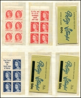 Lot 719 [4 of 6]:Mainly Decimal Selection with 3d red KGVI block of 18 from booklet pane sheet, early decimal booklets x10 and later booklets x7. Plus $3.90 x3, $4.10 & $4.30 with cancelled panes. (33 items)