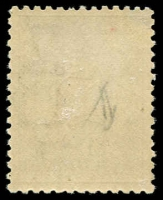 Lot 232 [2 of 2]:£1 Chestnut & Blue with Wmk inverted, BW #52a (SG #44aw, cat £4,500), fresh MVLH, Cat $6,000.