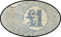 Lot 238 [4 of 4]:£1 Chocolate & Milky Blue block of 4 [R41-42,47-48], catalogue varieties on unit 41 Broken coast in Bight and unit 48 Break in value circle at lower left, distinct uncatalogued variety on units 47 Damaged left ear, BW #52(D)r,s, some marks on back, fresh postal use, Cat $12,000++. Thought to be the largest commercially used multiple in existance. An amazing block only ever sold once, in 2004, prior to that it had been in a family collection for three generations.