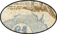 Lot 238 [2 of 4]:£1 Chocolate & Milky Blue block of 4 [R41-42,47-48], catalogue varieties on unit 41 Broken coast in Bight and unit 48 Break in value circle at lower left, distinct uncatalogued variety on units 47 Damaged left ear, BW #52(D)r,s, some marks on back, fresh postal use, Cat $12,000++. Thought to be the largest commercially used multiple in existance. An amazing block only ever sold once, in 2004, prior to that it had been in a family collection for three generations.