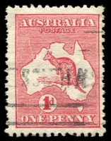 Lot 5 [1 of 2]:1d Red Die IIA Plate G Cracked electro - state II [GR26], colloquially known as the Big Crack, BW #4(G)la, Cat $600. A fine example of this popular flaw.