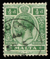 Lot 19731:Gudia: '[G]UDIA/AM/SP5/?' on ½d green KGV. [Rated 250]  PO 1/10/1891; ED 7/11/1921.
