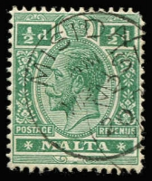 Lot 19733:Misida: 'MISIDA/AM/MR2/20' on ½d green KGV. [Rated 100]  PO 1/10/1891; LD 12/11/1921.