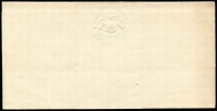 Lot 1162:1838 Embossed Letter Sheet 1898 reprint on twice folded white paper with strong central embossing on all three portions.