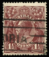 Lot 256:1½d Brown Die I BW #85(8)ia