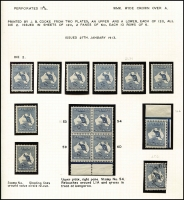 Lot 27:2½d Indigo mint group incl plated marginal block of 4 and CTO single, nicely mounted on page, Cat $1,700+. (11)