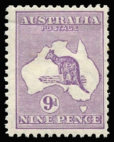 Lot 128 [3 of 4]:9d Violet Die IIB group of four mint singles, Cat $700. (4)