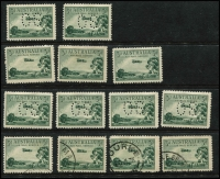 Lot 2067:1929-38 3d Airmail mint ex noted, Plate A 'OS' x2, Plate B normal x3 & used x4 (one CTO), 'OS' x4, Cat $500+.