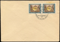 Lot 1425 [5 of 10]:1935-42 group of covers, mainly special cancels, incl AR from Deutsch Krone (Pom) with 15pf, 80pf & 50pf pair, 42+108pf Brown Band on wmked piece with special cancel, 1942 Soviet Paradise PPC with 1941 Sports set & special cancel, 1935 Hitler Putsch pair on Norddeutscher Lloyd Bremen PPC of Madrid, etc. (13)