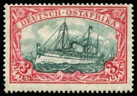 Lot 1432:1905-20 3m 1919 print with 26x17 perf, Mi #39IIAd, MVLH, Cat €150. Jäschke handstamp.