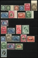 Lot 1322 [2 of 4]:1942-63 Issues complete sets, excl UPU, with 1942-46 Pictorials, Peace, Silver Wedding, New Currency, Coronation, 1953-63 Pictorials marginal singles & 1963 pictorials mostly corner singles, SG #1-52, Cat £180+. (49)