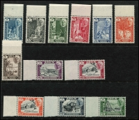 Lot 1322 [3 of 4]:1942-63 Issues complete sets, excl UPU, with 1942-46 Pictorials, Peace, Silver Wedding, New Currency, Coronation, 1953-63 Pictorials marginal singles & 1963 pictorials mostly corner singles, SG #1-52, Cat £180+. (49)