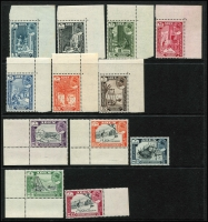 Lot 1322 [4 of 4]:1942-63 Issues complete sets, excl UPU, with 1942-46 Pictorials, Peace, Silver Wedding, New Currency, Coronation, 1953-63 Pictorials marginal singles & 1963 pictorials mostly corner singles, SG #1-52, Cat £180+. (49)