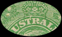 Lot 151 [5 of 5]:½d Green Comb Perf Electro 1 group of mint blocks and singles with catalogued varieties with Break in frame below Y of PENNY, Notch in bottom frame at SE corner, Vertical scratches through rights side of stamp (1L6, 1L12 x2, 1L18 x3), White flaw over T of AUSTRALIA, BW #63(1)d,e,f,g, Cat $1,080+. (6 items)