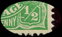Lot 152 [3 of 4]:½d Green Comb Perf Electro 1 group of mint blocks and singles with catalogued varieties with White flaw in right wattles, White dash under left '1' in right value tablet and White spot over back of emu, BW #63(1)k,m,p, Cat $360+. (6 items)