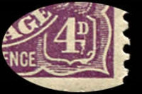 Lot 315 [2 of 7]:4d Violet mint group of plate 2 plated stamps, a number of catalogued flaws, BW #111(2)f,g,l,p,t,vb,vg, Cat $1,825++. Useful group (22)