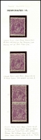 Lot 315 [3 of 7]:4d Violet mint group of plate 2 plated stamps, a number of catalogued flaws, BW #111(2)f,g,l,p,t,vb,vg, Cat $1,825++. Useful group (22)