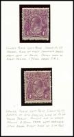 Lot 315 [4 of 7]:4d Violet mint group of plate 2 plated stamps, a number of catalogued flaws, BW #111(2)f,g,l,p,t,vb,vg, Cat $1,825++. Useful group (22)