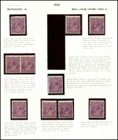 Lot 315 [5 of 7]:4d Violet mint group of plate 2 plated stamps, a number of catalogued flaws, BW #111(2)f,g,l,p,t,vb,vg, Cat $1,825++. Useful group (22)