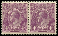 Lot 315 [1 of 7]:4d Violet mint group of plate 2 plated stamps, a number of catalogued flaws, BW #111(2)f,g,l,p,t,vb,vg, Cat $1,825++. Useful group (22)