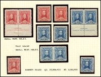 Lot 556 [3 of 4]:1930 Sturt mint collection incl imprint pairs, 2 plate number pairs (1 to 8) and 3d plate number blocks of 4 (1 & 2 (MUH)). (19 items)