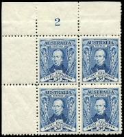 Lot 556 [1 of 4]:1930 Sturt mint collection incl imprint pairs, 2 plate number pairs (1 to 8) and 3d plate number blocks of 4 (1 & 2 (MUH)). (19 items)
