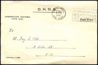 Lot 29:Victoria: OHMS Electoral Claim receipt postcard for the Glen Iris/Chisholm electorates, mailed 1951 (Feb 8).