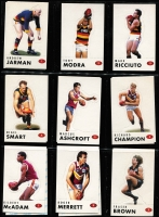 Lot 1054 [2 of 7]:Sport: AFL 1995-1998: 1998 Select All Australia Team (21), Stand Up Stickers - Set of 72, 1995 Gamebreaker (64), 1995 Draft Pick (22) 1995 Lifetime Best (18), 3D cards (15). (210+)